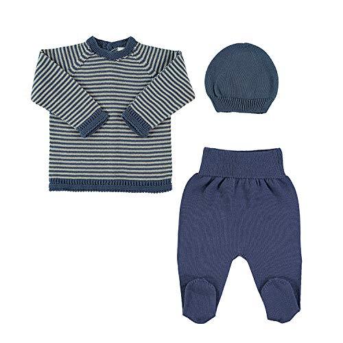 Petit Oh! - Conjunto de Punto para bebé Jersey Polaina y Gorro ...