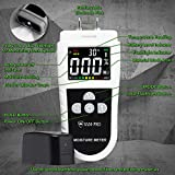 SAM-PRO Dual Moisture Meter 2.0: Upgraded LCD Color Display & Flashlight - 4 Smart Material Modes for Moisture & Temperature readings in Wood, Concrete, Drywall, Carpet, Building Materials