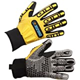 IMPACTO WGWINRIGGS Dryrigger Oil and Water Resistant Winter Glove, Yellow/Black