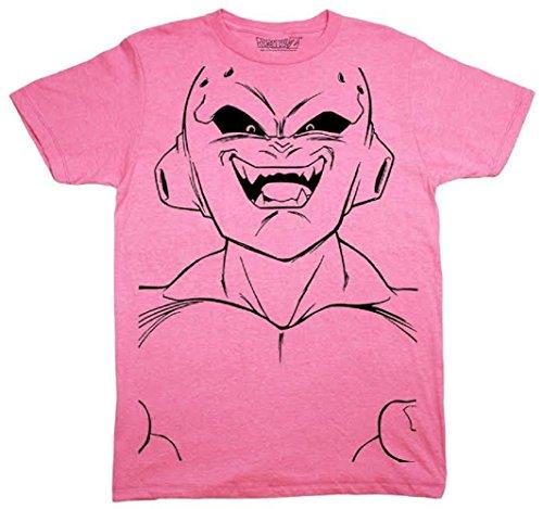 Dragon Ball Z Majin Buu Kid Buu Large Face Line Art Adult T-Shirt (X-Large) Dragon Ball Z Fan Art