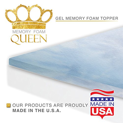 Memory Foam Queen Cool Gel Mattress Topper Queen Size