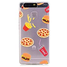 iPhone SE Case, iPhone 5 5S Case, KSHOP Premium Accessory Ultra Thin Transparent Clear Soft Gel TPU Silicone Case Cover Bumper Shellfor Apple iPhone SE/5/5S-Hamburger and French fries