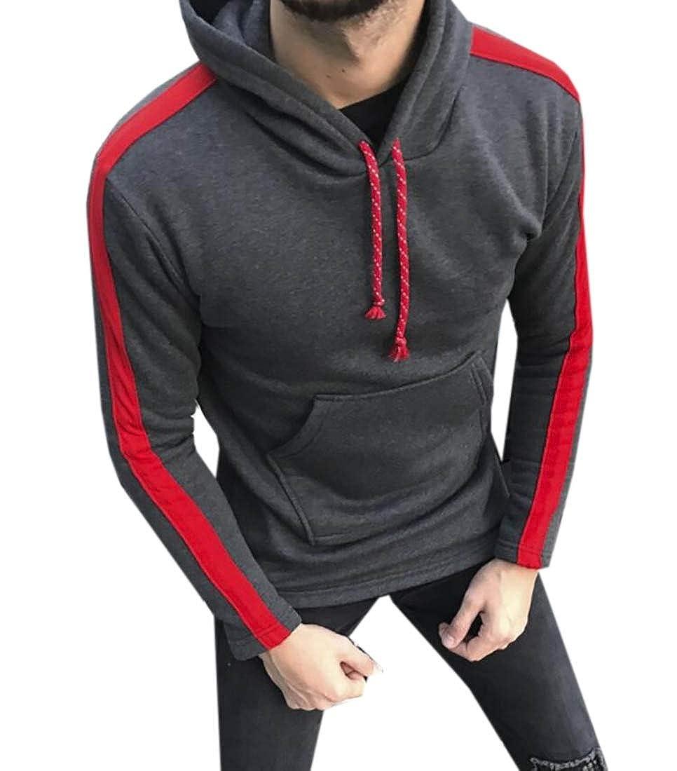 Yayu Men/'s Pullover Hooded Long Sleeves Slim Tops Hood Sweatshirt