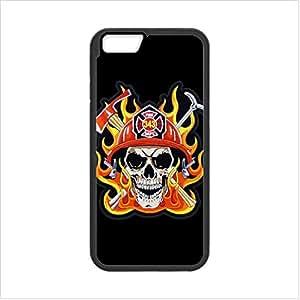 Best Custom Firefighter Helmet Flames Apple iphone 6 4.7 TPU (Laser Technology) Case, Cell Phone Cover