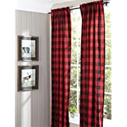 Buffalo Check Lined Panel Pair, 72X84 Window Curtain Drapery by Park Designs