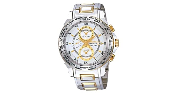 Amazon.com: Seiko Mens Premier World Timer Watch Model SPL010P1: Electronics