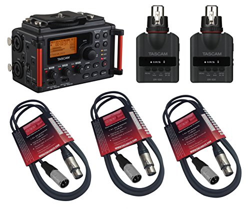 3.5mm Stereo Cable Tascam DR-60DmkII 4-Channel Portable Recorder with 16GB Memory Card Charger with 4 AA Batt Bundle