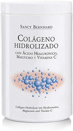 Colágeno hidrolizado con Ácido Hialurónico, Magnesio y Vitamina C - contribuye al Normal Mantenimiento de los Huesos y Ayuda a la formación de ...