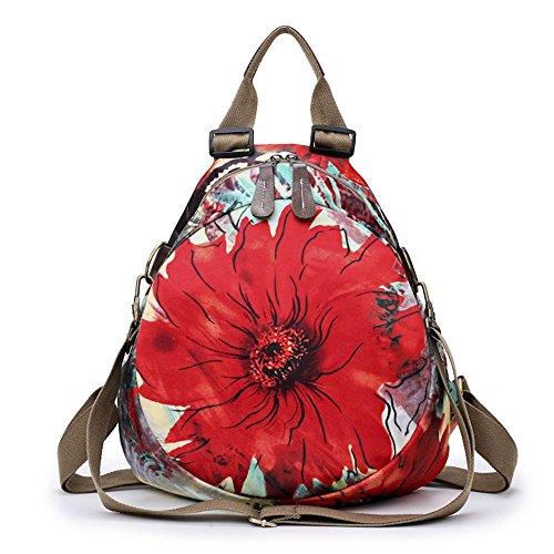 Aoligei Oxford Fashion imprimé double sac de voyage grande fleur sac à dos polyvalent