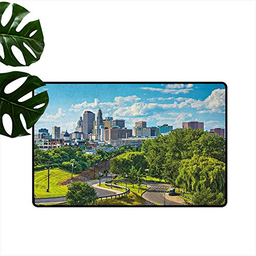 United States,Floor Mats Hartford Connecticut USA Downtown Cityscape Aerial View Modern Life 36