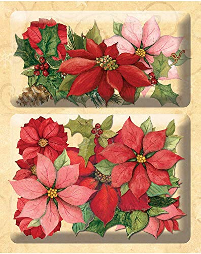 (K&Company Susan Winget Glad Tidings Poinsettia and Holly Layered Accents (4 Pack))