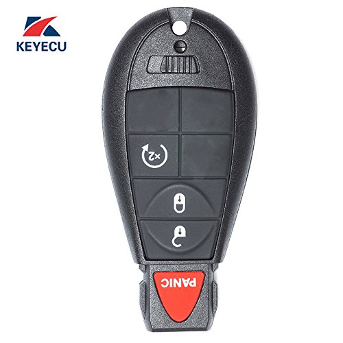Keyecu OEM Remote Key Fob 4 Button for Dodge RAM 1500 2500 3500 With Remote Start GQ4-53T