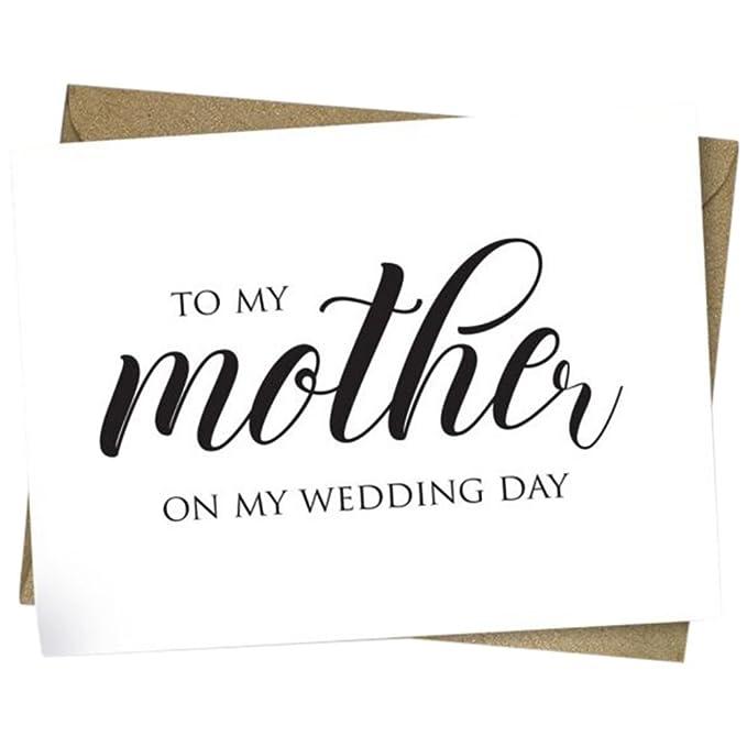 Amazon.com: Diseño de tarjeta de día de boda madre Script ...