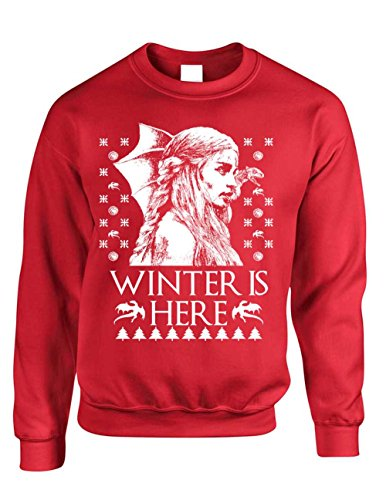 Crewneck Winter Is Here Ugly Christmas Sweater Khalessi