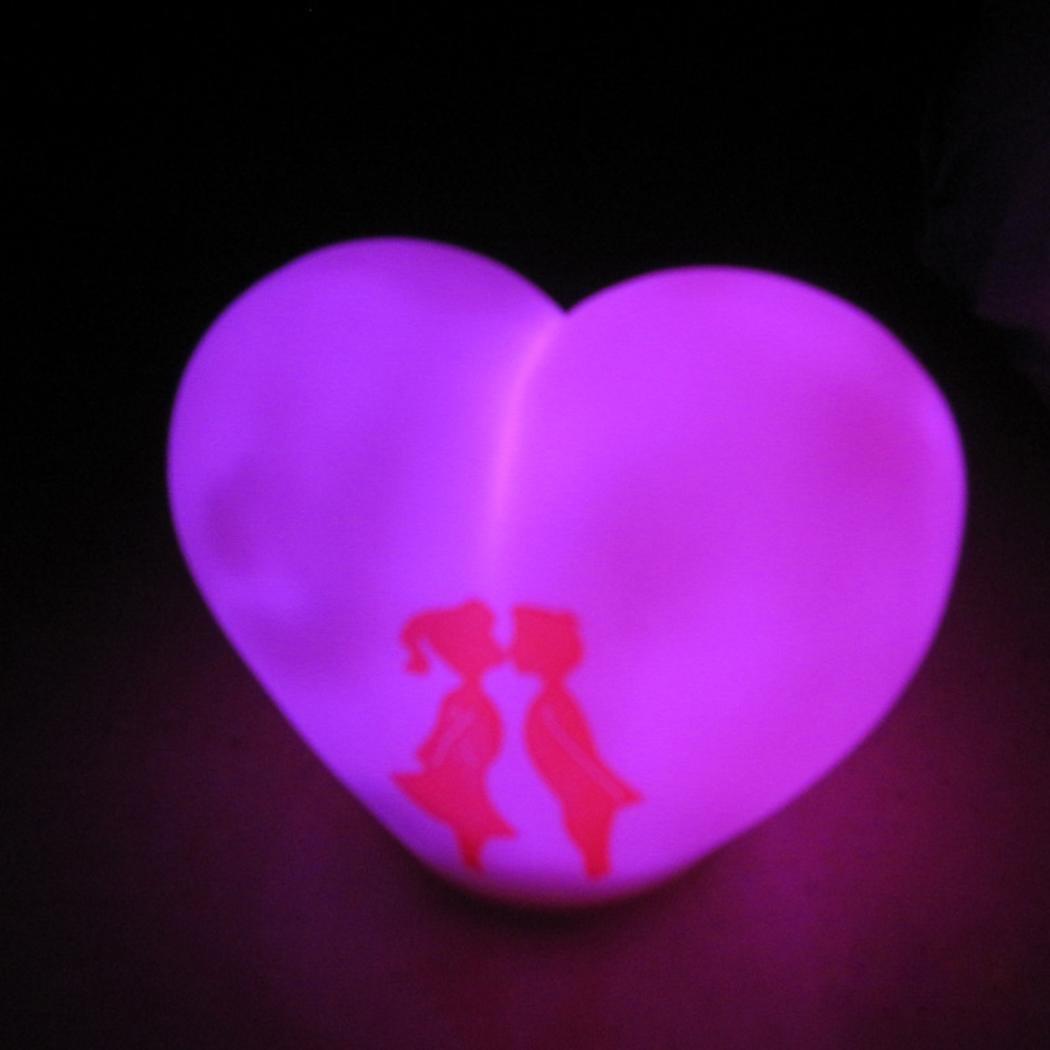 meflying Shape Lovers Sweet Heart Shape LEDナイトライトランプカラーChangingギフトおもちゃNight Lights Sweet meflying B07FFWLWRS, BAROCCA(バロッカ):d4fefde1 --- ijpba.info