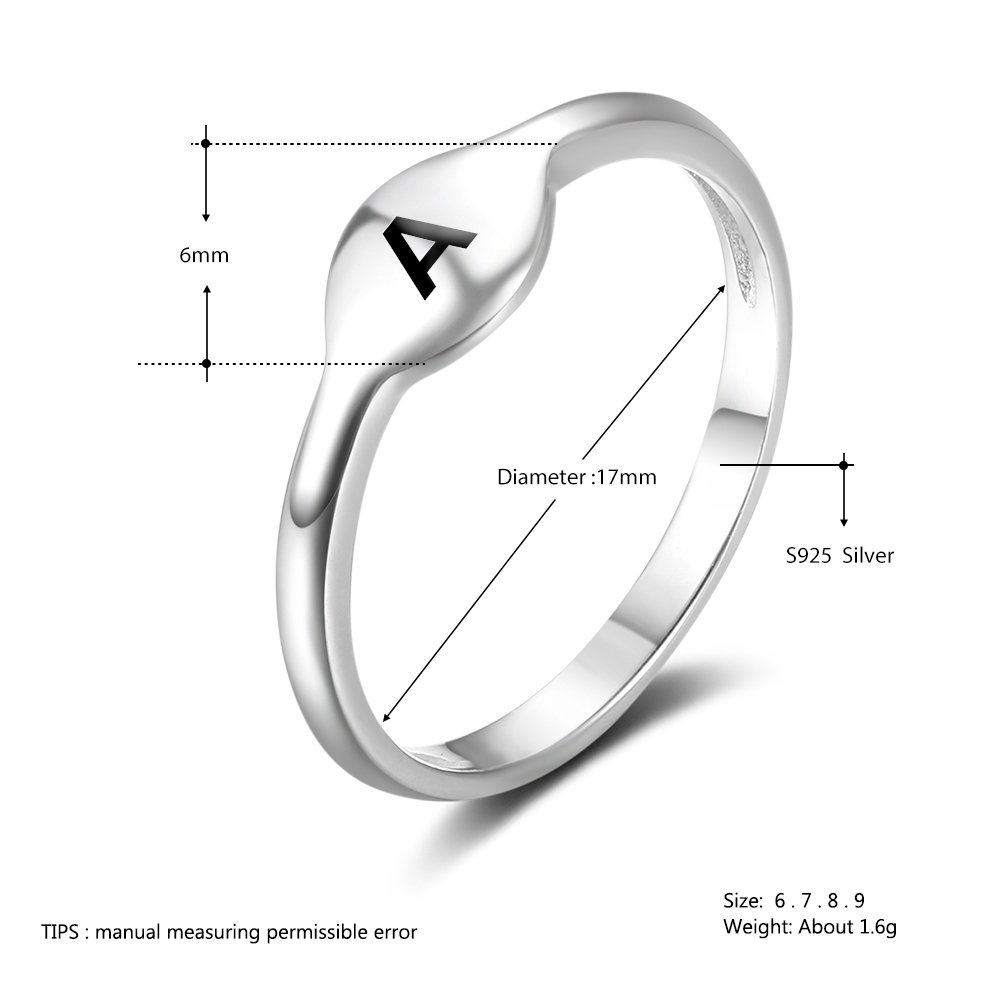 JewelOra Custom Initial Ring BFF Friendship Rings for Women Personalized Sisters Rings Promise Rings for Her