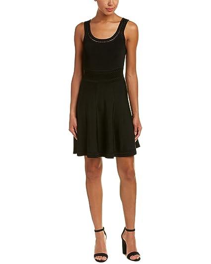 Alice Olivia Womens Heather A Line Dress Xs Black At Amazon