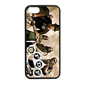 CTSLR Laser Technology Band Five Finger Death Punch TPU Case Cover Skin for Apple iPhone 5/5s- 1 Pack - Black - 4 by runtopwell