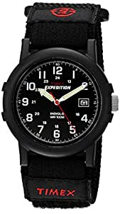 Timex Men's T40011 Expedition Camper Analog Quartz Black Watch