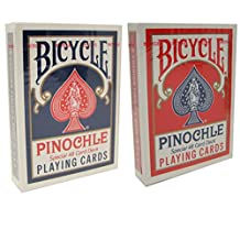 2 Decks of Bicycle Jumbo Index Pinochle Playing Cards - Comes with Free Cut Cards