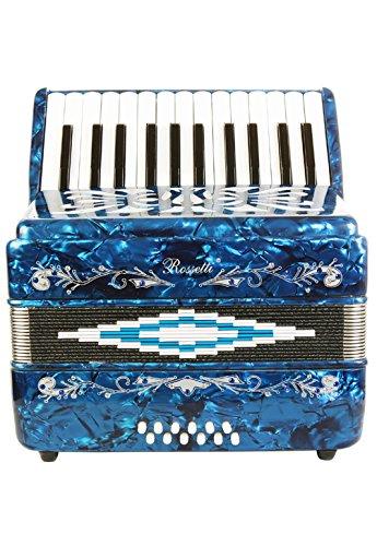 Rossetti Beginner Piano Accordion 12 Bass 25 Keys Blue by Rossetti