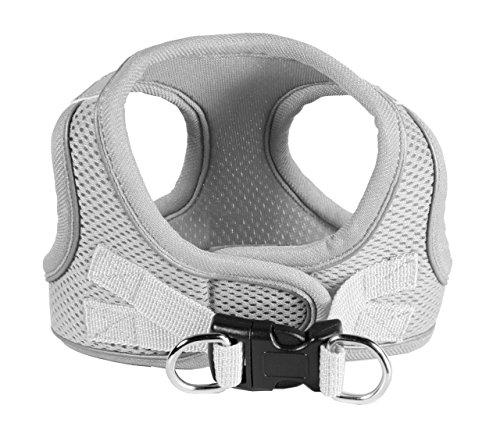 Hip Doggie HD-6EZMGY-L Large EZ Reflective Sports Mesh Harness - Grey