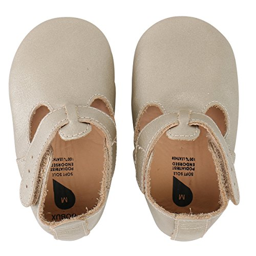 BOBUX Baby Girls Shoes Premium Leather Soft Sole Shoes for Infants and Toddlers L (15-21 mo.) (Bobux Suede Shoes)