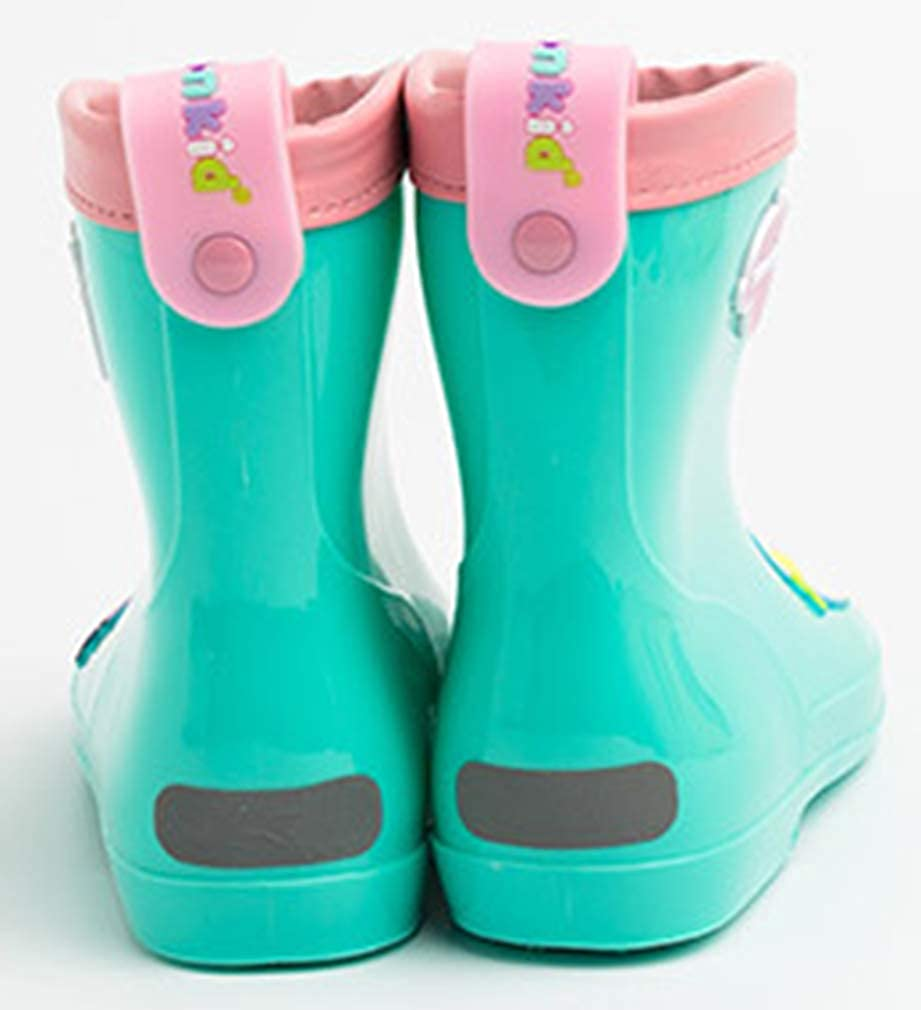 VECJUNIA Boys Girls Sweet Rain Boots Round Toe Nonslip Shoes