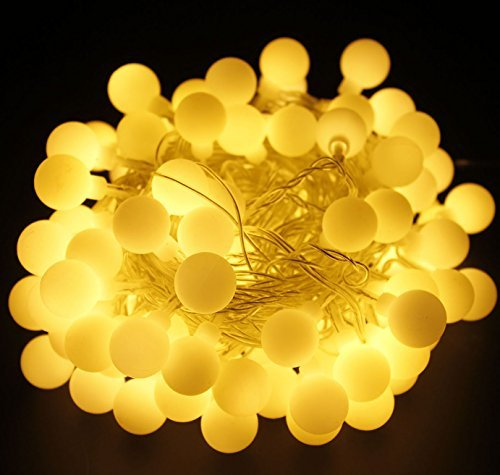 Globe String Lights , Sungluber 100 Led Indoor Linkable String Lights 31V Safety Warm White...