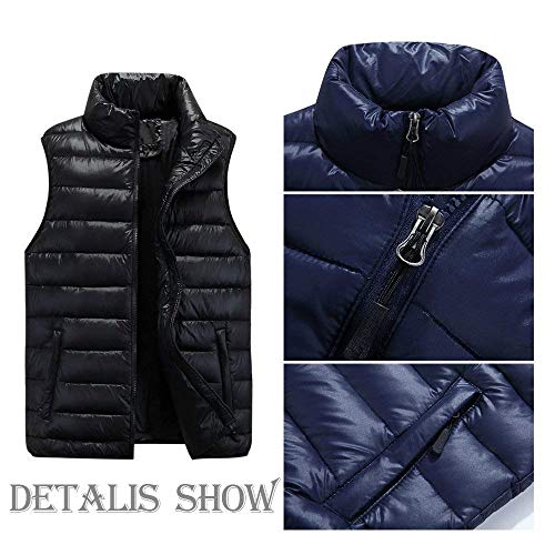 Down Quilted Vest Jacket Men's Warm Unique Winter Mens Vest Down Sleeveless Coat Coat Jacket Nenet Schwarz Vests 4RwqBYH