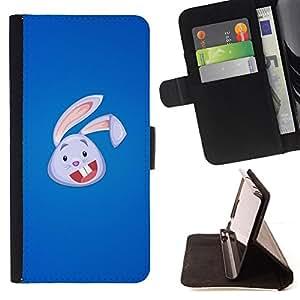 BullDog Case - FOR/Sony Xperia Z3 D6603 / - / Cute Bunny Rabbit Face /- Monedero de cuero de la PU Llevar cubierta de la caja con el ID Credit Card Slots Flip funda de cuer