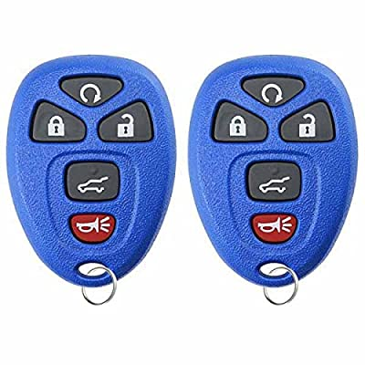 KeylessOption Keyless Entry Remote Control Car Key Fob Replacement for 15913415 -Blue (Pack of 2): Automotive