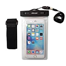 """MELOP Universal Outdoor Waterproof Bag Pouch Case for Apple iPhone 7 6S 6 Plus Samsung Galaxy S6 S7 Edge Active plus, Note 3 4 5, LG G5 K10 V20 Sony HTC Google HTC Huawei Phones up to 6.0"""" - Frozen"""