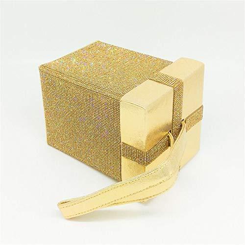 Han Verticale de en Mariage Gold en Trois Sac Section Miss de Joy Dimensions Cristal embrayages Embrayage de soirée pour portatif Le Gold Color de carré Porte Bourse La Sac discothèques qXtw6wxF1