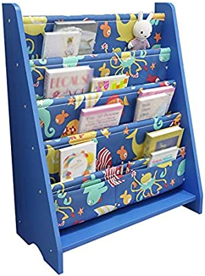 Amazon Com Gaoqqi Sling Bookshelf Wooden Storage Rack