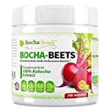 Bocha-Beets Keto Pre Workout Supplement - Nitric Oxide Preworkout Drink - Beetroot Extract, BCAA, Citrulline, Betaine & Electrolytes. Stimulant Free, Sweetened with 100% Kabocha Extract, 21 Servings