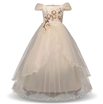 1eb63bd16 Image Unavailable. Image not available for. Color: SPP PANDA Flower Girl  Dresses for Weddings Age 11-12 ...