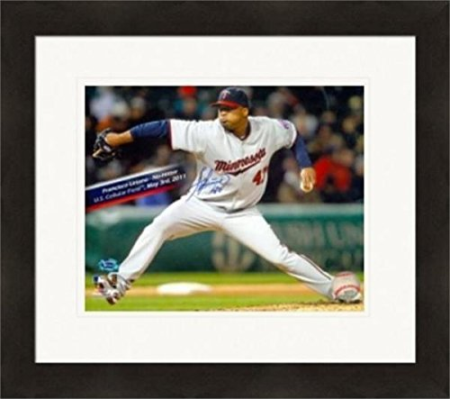 Signed Francisco Liriano Picture - 8x10 NO HITTER Image #2 Matted & Framed - Autographed MLB ()
