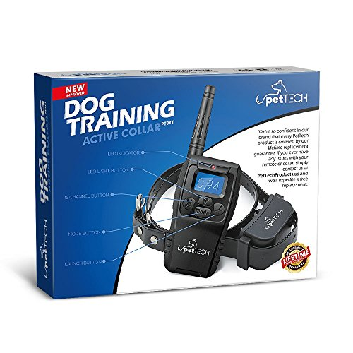 Pettech-PT0Y1-Dog-Training-Shock-Collar-Rechargeable-and-Weather-Resistant-1000-ft-Range