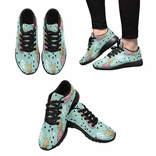 InterestPrint Womens Trail Running Shoes Jogging Lightweight Sports Walking Athletic Sneakers Geometric Pastel Summer Surf Pineapple Sweet hearts Multi 1 1FVB7mFPab