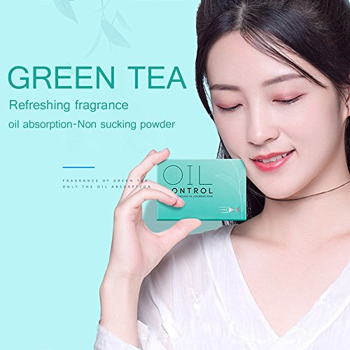 SEYOU Natural Green Tea Oil Absorbing Tissues - 400 Counts in 4 Pack, Premium Face Oil Blotting Paper -No Waste and Easy to Carry in Pocket! by SEYOU