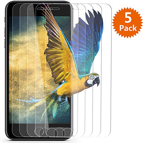 iPhone 7 Plus Screen Protector/iPhone 8 Plus Screen Protector - BlingFilm (5 Packs) iPhone 7 Plus [ Tempered Glass ] Screen Protector for Apple iPhone 8 Plus/iPhone 7 Plus 5.5 [ Case Friendly ]