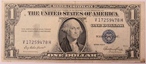 1935 Series E Silver Certificate in Very Good Condition