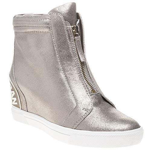 Dkny Baskets Connie Sneaker Metallic Wedge Femme Mode FFBrw