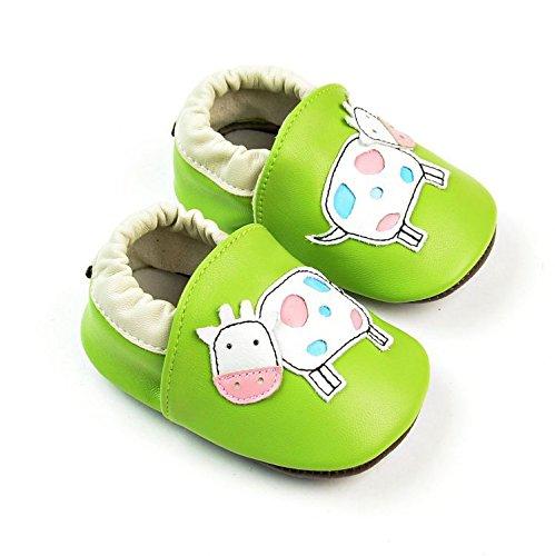 Vesi-Zapatos para bebé Primeros Pasos Zapatillas Infantiles para Niño/Niña Antideslizante Respirable Verde Talla M:6-12 Meses Verde