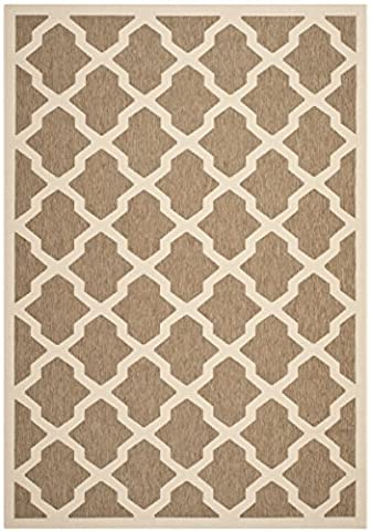 Safavieh Courtyard Collection CY6903-242 Brown and Bone Indoor/ Outdoor Area Rug (4' x 5'7