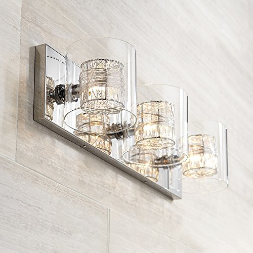 Phenomenal Possini Euro Design Wrapped Wire 22 Wide Bathroom Light 30 Home Interior And Landscaping Staixmapetitesourisinfo