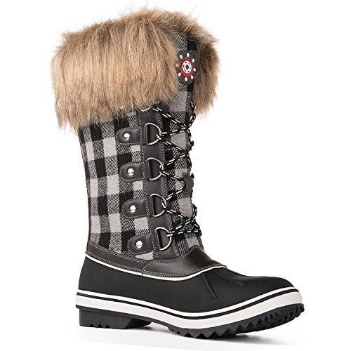 Black Waterproof Women's 1740white Kingshow Winter Globalwin Boots SUPwqpT
