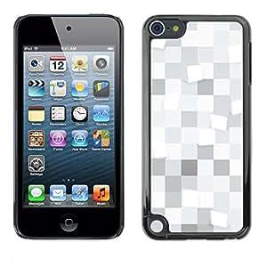 LASTONE PHONE CASE / Carcasa Funda Prima Delgada SLIM Casa Carcasa Funda Case Bandera Cover Armor Shell para Apple iPod Touch 5 / White squares Pattern