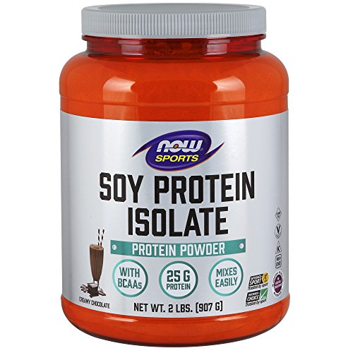 Chocolate Soy Protein - NOW Sports Soy Protein Isolate, Creamy Chocolate, 2-Pound